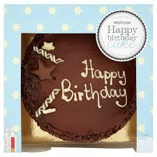 Waitrose Happy Birthday Chocolate Cake 18 Servings