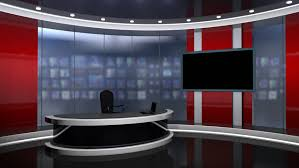 Stock Video Of News Tv Studio Set