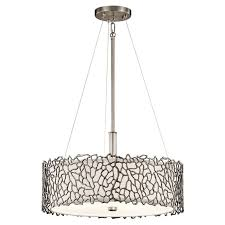 Elstead Silver Coral 3 Light Ceiling Light Pendant