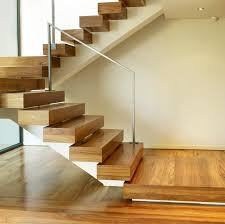 trendy oak wooden step foot ladder with iron handrail as inspiring