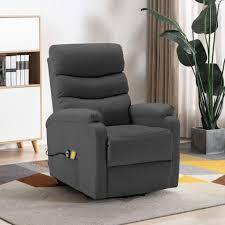 elektrisch massagesessel tv sessel mit aufstehhilfe anthrazit kunstleder relaxsessel fernsehsessel