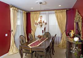 Table Chairs Chandelier Lamp Candle Cover Curtains Windows Mirror Cabinet Vases Flower