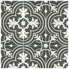 Home Depot Merola Hex Tile by Merola Tile Twenties Classic Ceramic Floor And Wall Tile 7 3 4