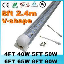 v shaped t8 led lights 4ft 40w 5ft 50w 6ft 65w 8ft 90w 2 4m