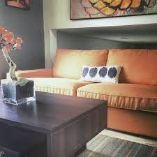 custom ikea kivik sofa cover 3 seater in kino orange fabric