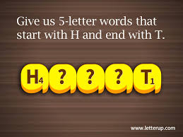 5 letter words that start with H and end with T