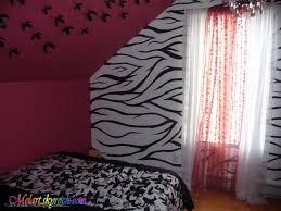 chambre zebre et peinture sur mur chambre de zèbre mélart