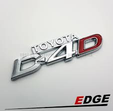100 Ford Stickers For Trucks Emblem Toyota D4D ChromeRed 26x95cm D4d Toyota Sport Adhesive Ready Sticker Name Plate Word Stickon Decal Logo Symbol Supply Sign 3D