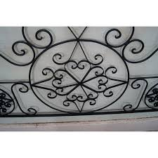 White Wrought Iron King Size Headboards by Ornate Scrolled Wrought Iron King Size Headboard Chairish