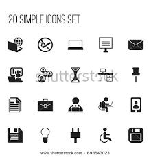 icon bureau set 20 editable bureau icons includes stock vector 698543023
