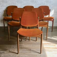 Mid-Century Dining Chairs By Arne Vodder For France And Daverkosen Burnt Orange Ding Chair Wayfair Room Chairs Upholstered Sets World Market Orange Lvet Chair Ultralighttentinfo Pair Of Stud Chenille Effect Black Legs Midcentury Modern Leather Set Of 4 Satchel Eurway Decoration Tan At Table In Ding Table With Chairs Design Ideas Shankar Espresso Style 9 Scroll Back Matrix Persimmon Fusion Living Faux Industrial Bar Stool