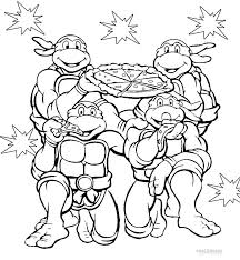 Tmnt Nickelodeon Coloring Pages