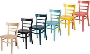 erides stühle für küche und esszimmer robuste struktur aus buchenholz bunt lackiert und sitzfläche aus holz hellblau