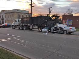 100 Garbage Truck Accident Driver Injured In Crash With CBS Detroit