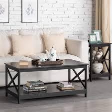 l 100 cm x b 60 cm x h 47 cm moderner luxus wohnzimmer modern x design couchtisch holz beistelltisch mit lagerregal schwarz