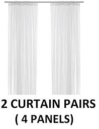 Amazon Lace Kitchen Curtains by Amazon Com Ikea Lill Sheer Curtains 4 Panels 98 X 110 2 Curtain