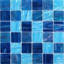 shop for aquatic blue 2x2 squares glass tile at tilebar