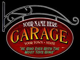 Garage Shop Personalized Signs from Garage Art LLC