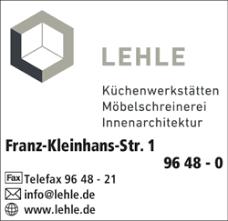 lehle schreinerei 86830 schwabmünchen adresse telefon