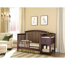 Side Crib Attached To Bed by Table Engaging Baby Bed With Changing Table Attached Wood