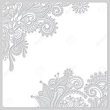 Abstract Modern Floral White Paper Cut Design Stock Photo