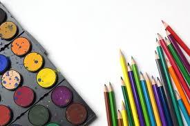 Back To School Pencils Rainbow Art