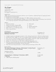 X Ray Tech Resume Examples New Sample Cover Letter For Technologist Radiologic Graduate