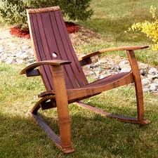 OutdoorAdirondack Chair Patterns Backyard And Birthday Decoration Ideas Uncategorized Rocking Wine Barrel Stave Enthusiast