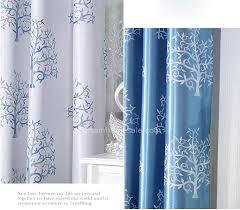 baum muster blackout polyester material blaue vorhänge im