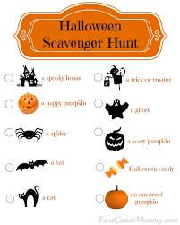 Easy Halloween Scavenger Hunt Clues by East Coast Mommy Halloween Scavenger Hunt With Free Printable