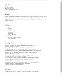 Resume Templates Contract Analyst