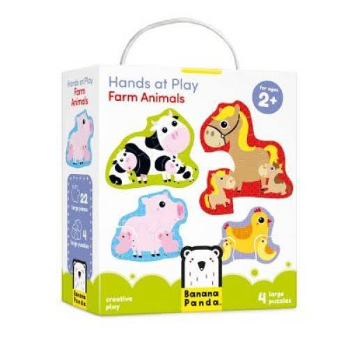 Banana Panda Hands at Play Farm Animals Puzzle - 4ct