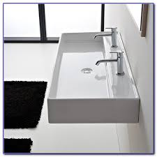 Trough Bathroom Sink With Two Faucets Canada by Trough Bathroom Sink With Two Faucets Canada Faucets Home