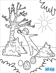 Chocolate Treasure In A Tree Coloring Page