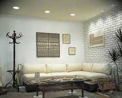contemporary living room with interior brick by build