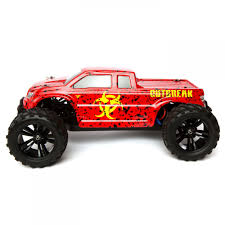 100 Monster Truck Rc Force RC Outbreak RTR 110 4WD Red TowerHobbiescom