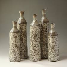 100 Flannel Flower Glass Tall Bottles C E R A M I C S HAPPiNESS