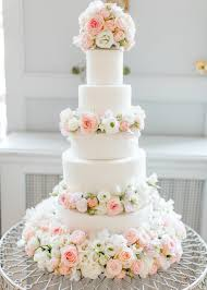 Cherie Kelly Dusty Pink And White Fresh Flowers Floral Wedding Cake London