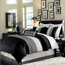 Amazon 8 Piece Luxury Bedding Regatta forter set Black