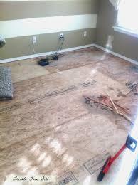 Preparing Osb Subfloor For Tile by Remodelaholic Faux Wood Plank Floors Using Brown Paper