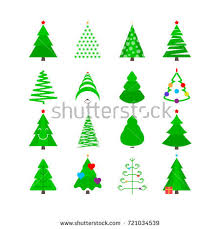 Christmas Trees Types by Christmas Tree Vector Icon Set Christmas Stock Vector 721034539