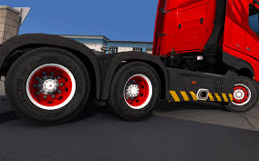Red & White Abasstreppas Wheels | ETS 2 Mods - Euro Truck ... How To Install 225 Wheel Covers Truckbuslorrytir Trims Hub Wheel For All Truck Mod American Truck Simulator Ats Peterbilt 579 13 Speed G27 Chevy Simulators Steering Creations Pack Dlc Youtube Hempam Kenworth Ultimate Customization Euro 2 Mods 16 6 Lug Stainless Covers Rim Liners Imported Trucks Mod