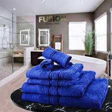 luxury towel bale set 100 egyptian cotton 6pc face hand bath