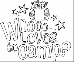 Download Coloring Pages Camping Incredible Kids Tent With