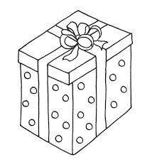 Of A Gift Page Christmas Presents Coloring Sheets Boxes For Birthday Happy Pages