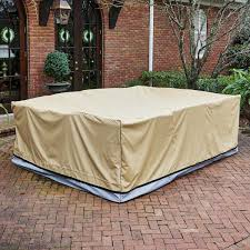Square Patio Tablecloth With Umbrella Hole by Covers Costco