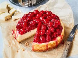himbeer cheesecake mit weißer schokolade