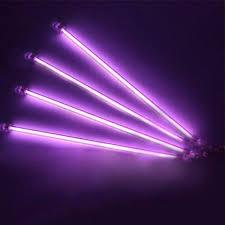 neon pour voiture exterieur 4 peça violet underbody undercar neon lights kit lumières sous