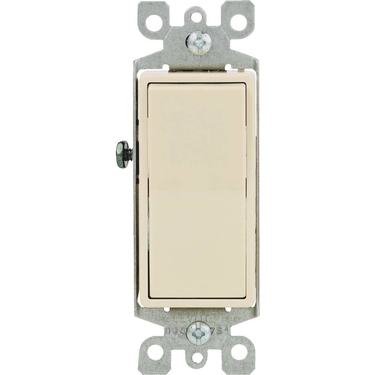 Leviton Switch - 15A. Single Pole, Ivory