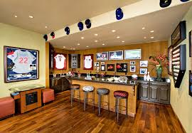Designed To House The Homeowner's Extensive Sports, Celebrity, And ... Amusing Sport Bar Design Ideas Gallery Best Idea Home Design 10 Best Basement Sports Images On Pinterest Basements Bar Elegant Home Bars With Notched Shape Brown 71 Amazing Images Alluring Of 5k5info Pleasant Decorating From 50 Man Cave And Designs For 2016 Bars